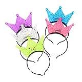 Lurrose 5 stücke Blinkende LED Krone Stirnbänder Glänzende Prinzessin Headwear Party Kopfschmuck...