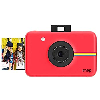 Zink Polaroid Snap Instant Digital Camera  Red  with ZINK Zero Ink Printing Technology