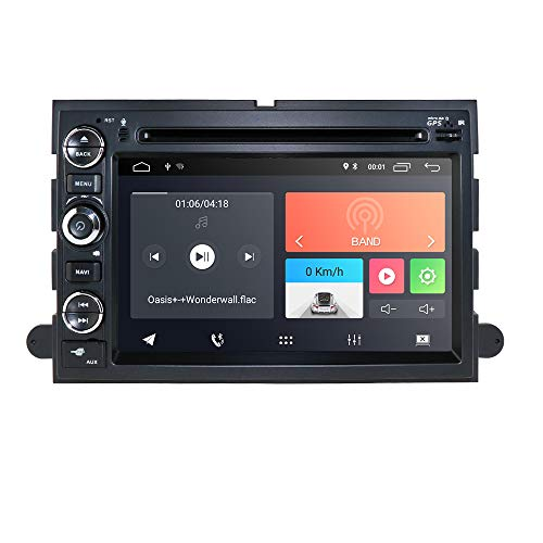 Android 10 Double Din Navigation 2GB RAM Fit f or Ford F150 F250/350/Edge/Fusion/Mustang in Dash DVD Player GPS Navigation Stereo Radio BT Steering Wheel Ctrl WiFi Support 4G DVR TV DAB+TPMS