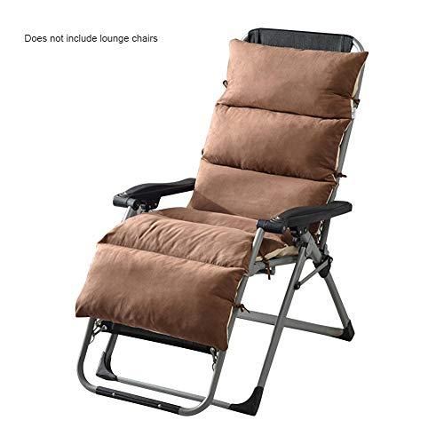 Seasaleshop kussen voor ligstoel en ligstoel, universeel, afneembare gevlochten stoel, loungebank met eendelig kussen schommelstoel kussen pluche