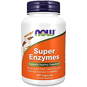 Supports healthy digestion: Now Super Enzymes is a comprehensive blend of enzymes that supports healthy digestion. Take 1 capsule with a meal. Breaks down fats, carbs, and proteins/Optimizes nutrient availability: Formulated with bromelain, ox bile, ...