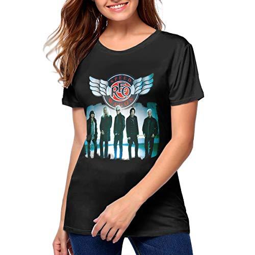 JohnJPerez Woman REO Speedwagon Music Band T Shirt Outdoor Tee M Black