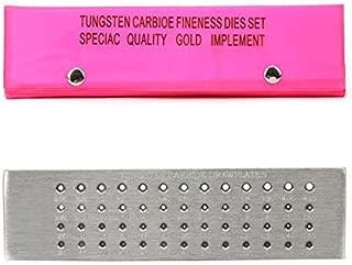YaeTek 52 Holes Round Tungsten Carbide Steel Wire Drawplate Jewelry Wire Drawplate for Jewelry Making (Gold Silver Platinum Palladium Copper Wire) - 0.26-4.00mm