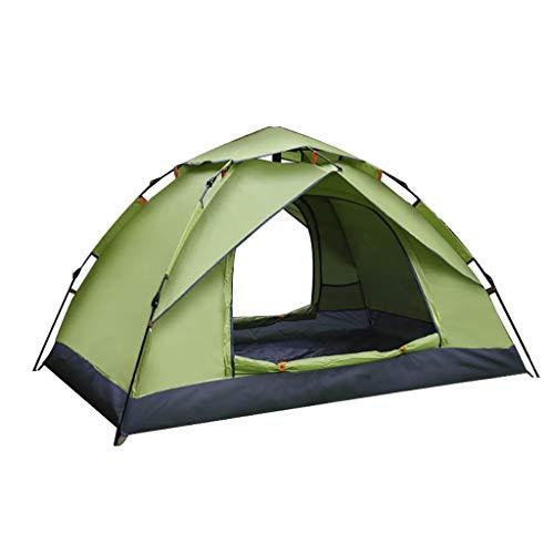 Tienda de campaña con Mochila Tienda de campaña Ligera Camping y Senderismo Tienda de campaña, 100 por ciento Impermeable Cosido en Tela Impermeable (Color : Dark Green)
