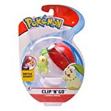 PoKéMoN Chikorita & Poké Ball, Clip 'N Go Wave 4 - Newest Edition 2020, Catch 'Em All!