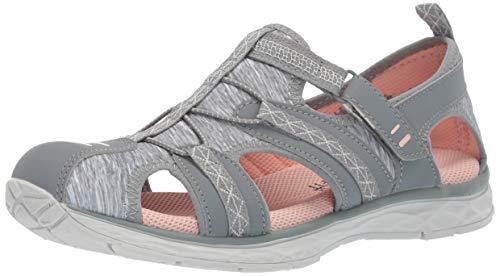 Dr. Scholl's Shoes Women's Andrews Fisherman Sandal, Monument Grey Nubuck/Fabric, 5.5 M US