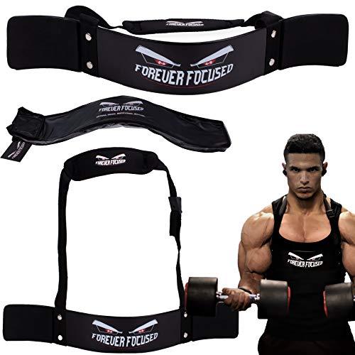 FOREVER FOCUSED® Premium Biceps Blaster Isolator Bomber Curl Aislador de biceps para musculacion, Aislador El Brazo Training bueno para Musculacion pesas maquina, Accesorio para Gimnasio