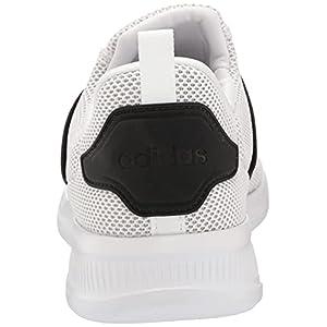 adidas Men's Lite Racer Adapt 4.0 Trail Running Shoe, White/White/Black, 10