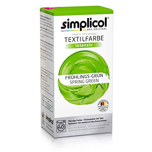 Simplicol Textilfarbe intensiv (18 Farben), Frühlings-Grün 1813, Hellgrün: Einfaches Färben in der Waschmaschine, All-in-1 Komplettpackung