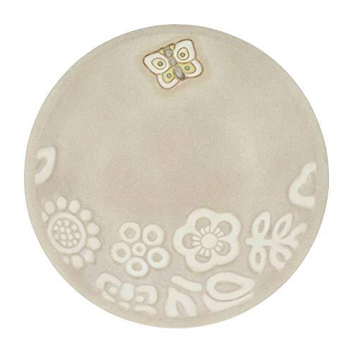 THUN - Svuotatasche da Ingresso con Farfalla - Accessori per la Casa - Linea Prestige Light - Ceramica - 18,15 x 18,15 x 3,4 cm
