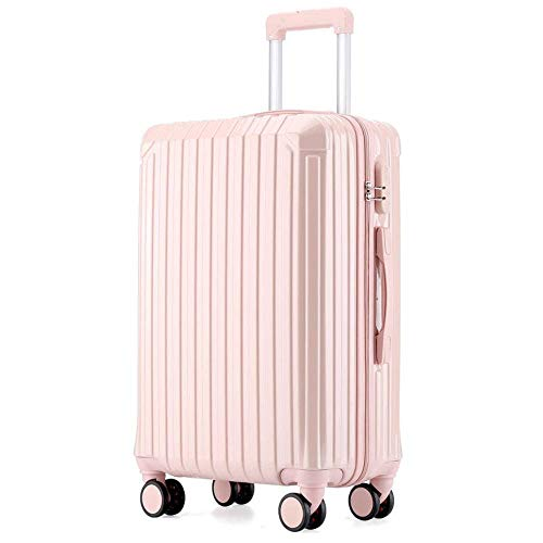 N\C Suitcase 4-wheel Fine-tuning ABS Hard Cover Trolley Case, Light And Portable Suitcase