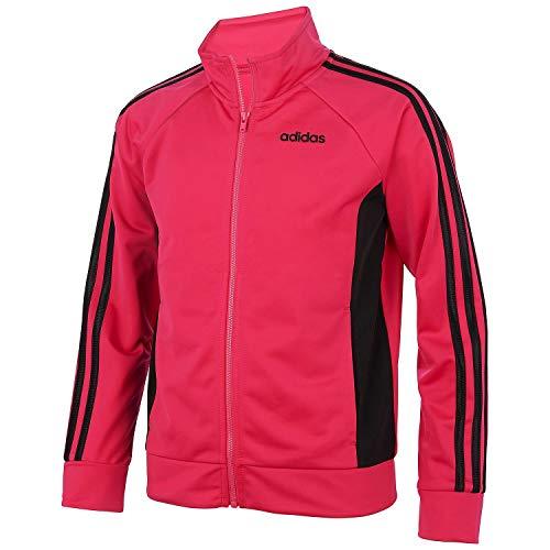 adidas Girls' Track Jacket (M (10/12), Magenta/Stripe)