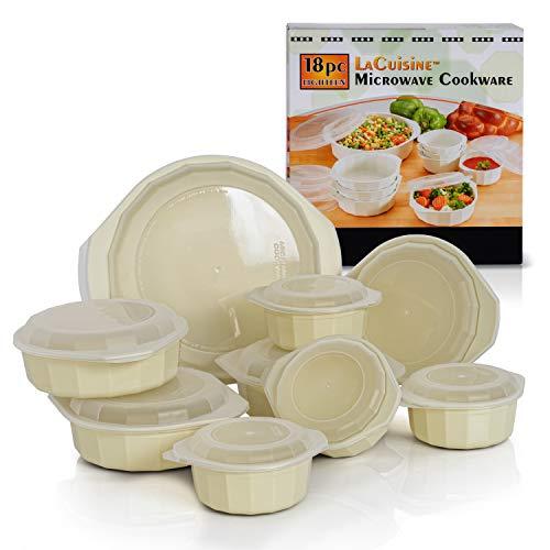 LaCuisine 18 Piece Microwave Cookware Set