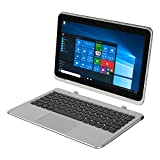 Nextbook Flexx 11A with WiFi 11.6' Convertible Touchscreen Tablet PC Featuring Windows 10 Operating System, Silver