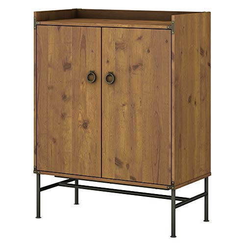 Bush Furniture kathy ireland Home Ironworks Storage Cabinet with Doors, Vintage Golden Pine