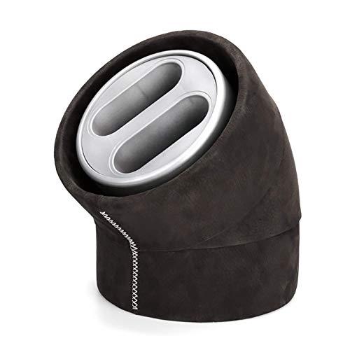 JHSHENGSHI Uhrenbeweger 2 + 0 Retro Handmade Watch Shaker Automatische mechanische Uhr Plattenspieler Erste Schicht Echte Rindslederuhr StorageWatch Wickelbox mit LED-Licht
