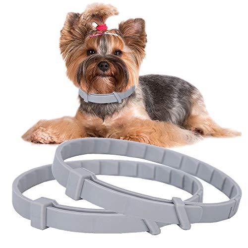2 collares antipulgas para perro, impermeables, ajustables, de 66 cm, para repeler los piojos de las mascotas