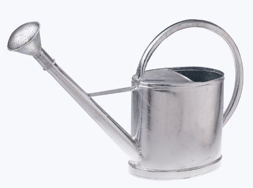 Gießkanne 12 Liter mit Brause aus Stahlblech feuerverzinkt heritage