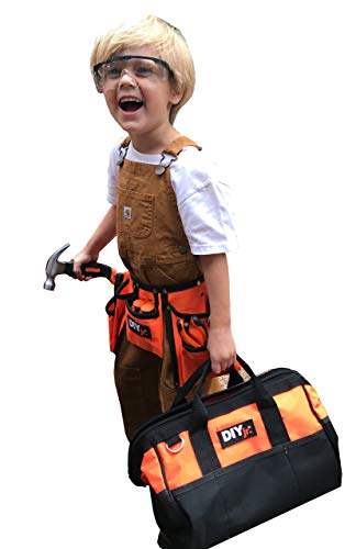 My First Tool Set by DIYjr – Real Tool Set for Kids Steel Forged Tools for Children Kids Toolbelt Child-Sized Tools Tool Bag for Kids Real Tools for Boys Tool Kit for Girls Tools for Small Hands