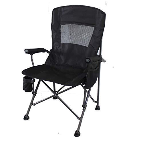 Draagbare campingstoel Beste gewatteerde klapstoel Inklapbare gevoerde arm stoel, opvouwbare camping gazon lounge stoel met bekerhouders mesh zijzak, lichtgewicht vouwen, 308 lb laadvermogen Lichtgewi