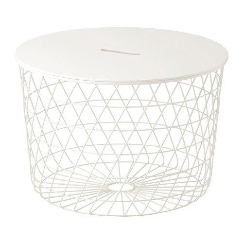 IKEA KVISTBRO Aufbewahrungstisch in weiß; (61cm)