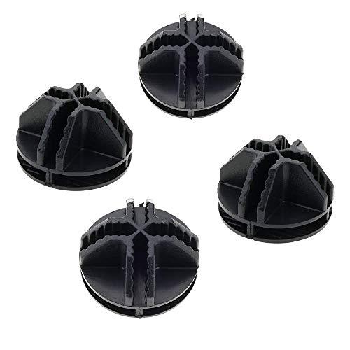 PrimeMatik - 4 Paket Stecker schwarz für Schuhschrank Stufenregal Modular Garderobenschrank Kubus 35x35cm 17x35cm
