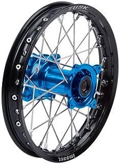 Impact Complete Wheel - Rear 14 x 1.60 Black Rim/Silver Spoke/Blue Hub for Yamaha YZ85 2002-2019