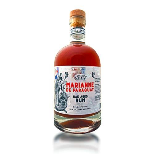 Marianne de Paraguay, Revolution Spirit Rum, 40% Alkohol, handgefertigt aus Paraguay, gereift auf natürlicher, französischer Eiche, Craft-Rum, ohne Zusatzstoffe (1 x 0.7 l)