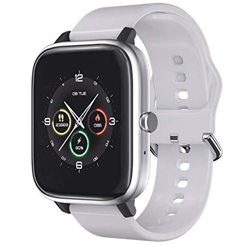 Smartwatch, Reloj Inteligente Mujeres con 1.54' Pantalla Táctil Completa, Pulsera de Actividad Inteligente con Monitor de Sueño Contador de Caloría Pulsómetros Podómetro (Blanco)