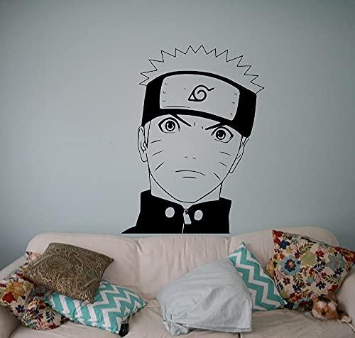 Anime dibujos animados Manga Naruto Ninja divertido Uzumaki Naruto vinilo pared pegatina coche chico Fans dormitorio sala de estar Club estudio decoración del hogar Mural