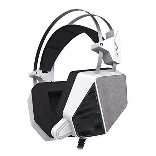 QNSQ Casque de Jeu avec Microphone à réduction de Bruit 7.1 canaux, Vibrations Basses fréquences montées sur la tête, Convient au Divertissement de Jeu, au Bureau