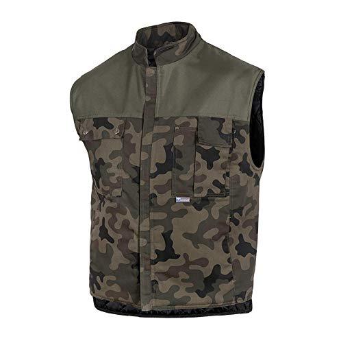 Gahibre, Camouflage, 1076155, gewatteerd vest, meerdere zakken, XL, 1