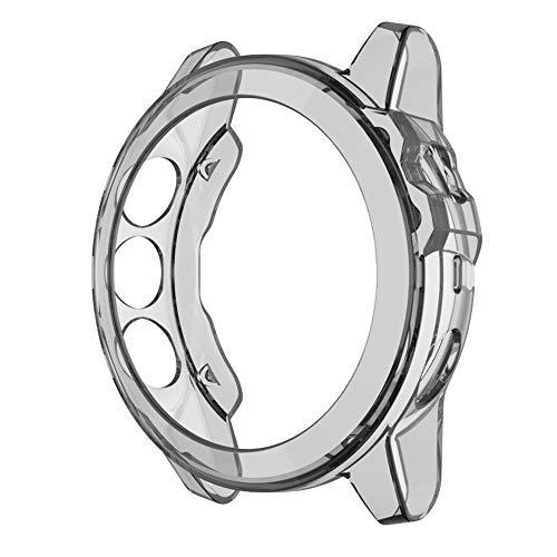 Wdckxy - Funda de alta definición para reloj Garmin Fenix 5X, protector de pantalla para 5X Plus, TPU transparente (color: gris transparente)