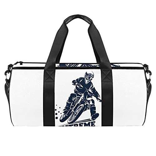 Borsa Sportiva Donne & Uomo Per Palestra Fitness Sport Viaggio Gym Duffel Bag Motociclismo 45x23x23cm