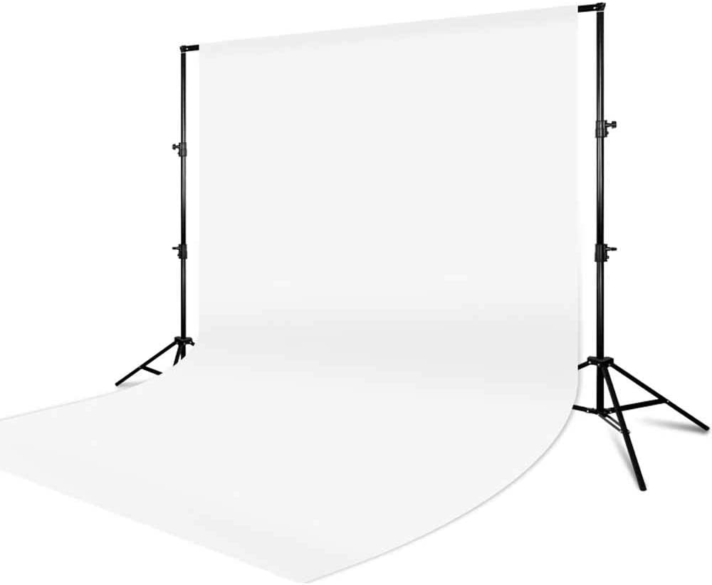 Color : White, Size : 300x200cm Screen Photo Backdrop Photo Collapsible Backdrop Photo Studio Pure Cotton Backdrops for Film Video White for Photoshoot Video and Televison
