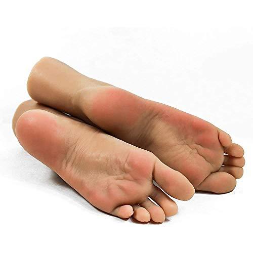 WRQ Silikon Füße Modell - Female Silikon-Fuss-Fuss-Modell - 1 Paar Silikon-Life Size Füße Modell Weibliches Mannequin Fuß - Für Schuhe Vorführmodell Art Skizze