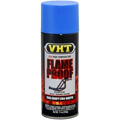 Nagellak spray VHT Flame Proof blauw mat x uitlaatsysteem voor motoren hoge temperaturen