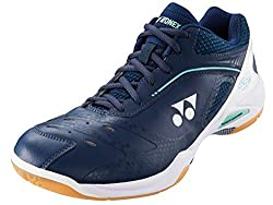 powerful Yonex 65Z Wide Shoes (9) Dark Blue and White