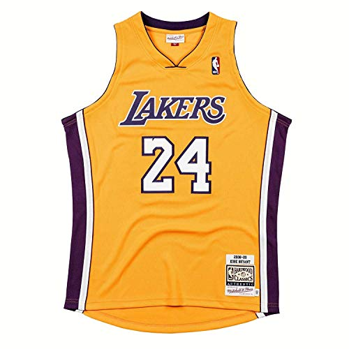 Mitchell & Ness Kobe Bryant #24 Los Angeles Lakers 2008-09 Authentic NBA Trikot Gelb, XL