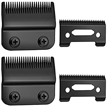 2 Sets Adjustable Hair Clippers Blades 2-Hole Hair Trimmer Replacement Blades Compatible with Wahl 8148 1919 8591 8509 2241 and 2240  Black
