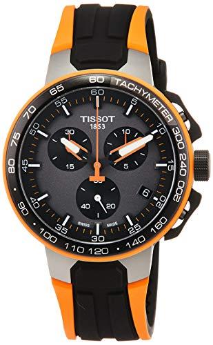 Orologio Tissot T-RACE CYCLING CHRONO T1114173744104 Al quarzo (batteria) Acciaio Quandrante Nero Cinturino Silicone