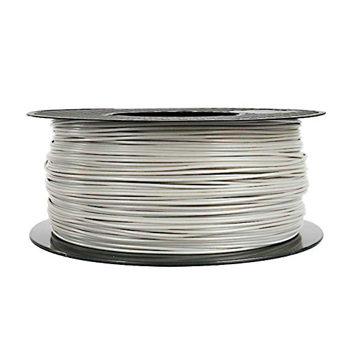 ABS Filament (Silver) 1.75mm LONGSELL 3D Printer Filament ABS 1KG Spool Filament ABS Compatible with most 3D Printer 3D printing Material ABS (Silver)