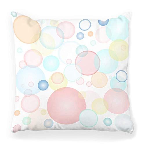 Funda de Cojine Funda de almohada decorativa Belleza abstracta Bluery Bubble Celebre la Navidad Círculo Color Colorido Concepto Cool Cute Throw Cojín 45X45CM