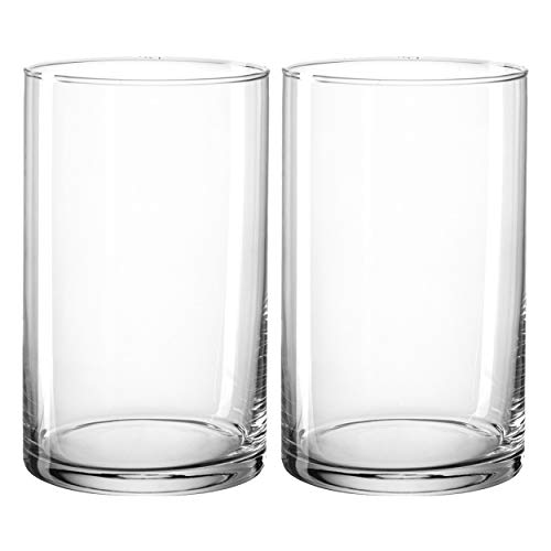 Montana: :Basic Vase, 2er Set, Blumenvase, Dekovase, Glasvase, Blumen, Glas, H 20 cm, 028898
