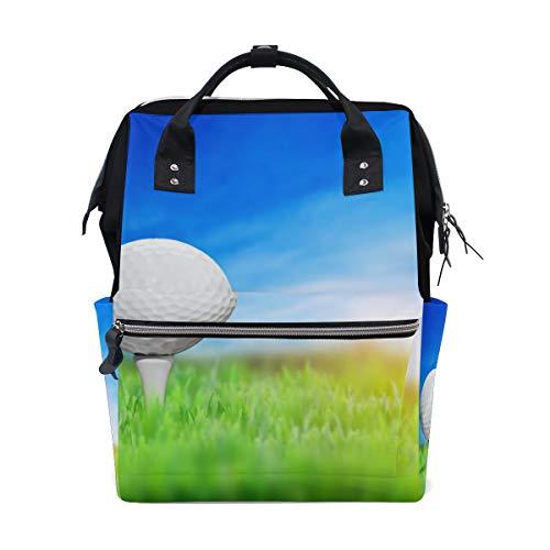 Montoj Rucksack mit Golfball-Motiv, Segeltuch