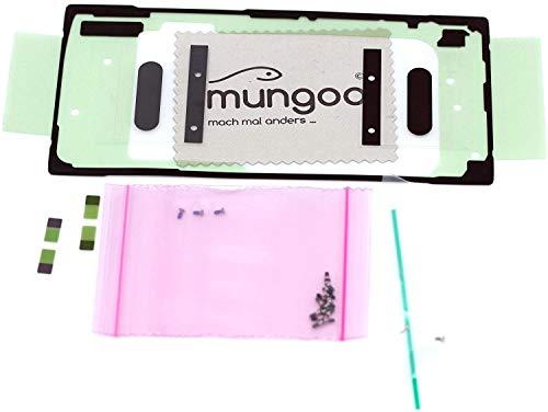 Klebefilm Set für Samsung Original für Samsung Galaxy Note 10 Plus (N975F) Galaxy Note 10 Plus 5G (N976B) Dichtung Kleber Adhesive mit mungoo Bildschirmputztuch
