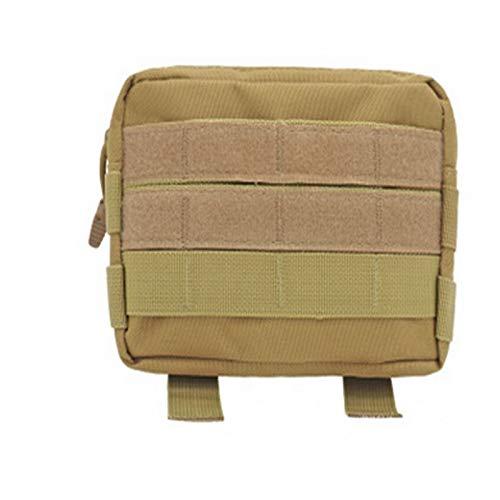 Duradero Bolsa de cintura táctica militar al aire libre Multifuncional EDC Molle herramienta con cremallera Paquete de la cintura de la cintura del accesorio Banda colgante Senderismo al aire libre