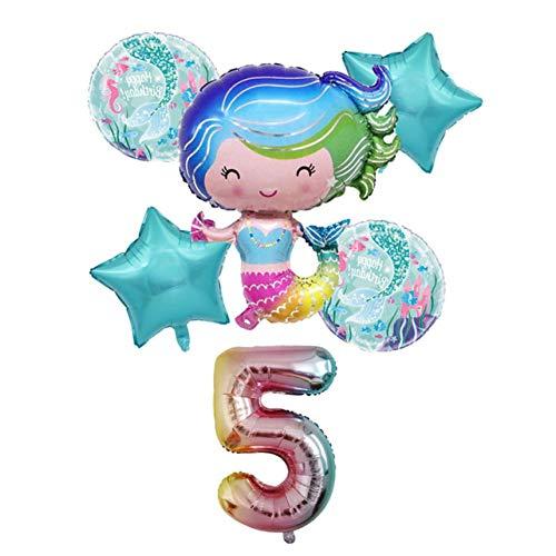 guantongda Smart Nieuwe Zeemeermin Aantal folie Ballonnen Set Kinderen Verjaardag Party Decoratie Zeemeermin Thema Feestartikelen