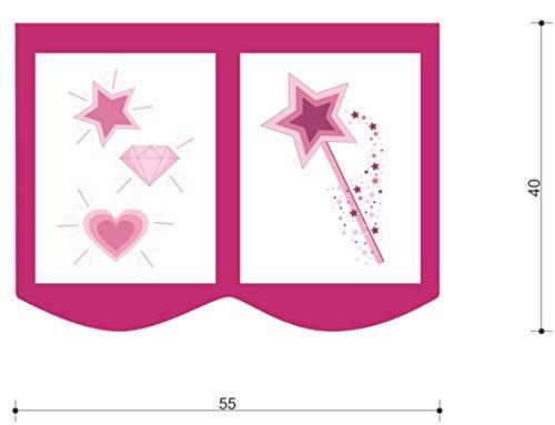 XXL Discount bedtas speeltas bed tas voor kinderbed afmetingen: 55 x 40 cm, 100% katoen opslag bedaccessoires stapelbed speelbed stoffen tas (roze/roze, eenhoorn)