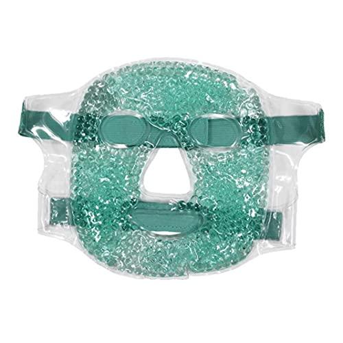 Tsikuxm Cubierta de Cara de Gel Caliente y fría PVC Hielo Hueco Cubierta Completa Facila Funda para hinchazón Enrojecimiento Facial Inflamación Itch Estrés Alivio